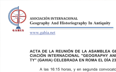 Proceedings of the 3rd General Meeting of GAHIA